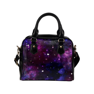 Midnight Blue Purple Galaxy Shoulder Handbag (Model 1634)