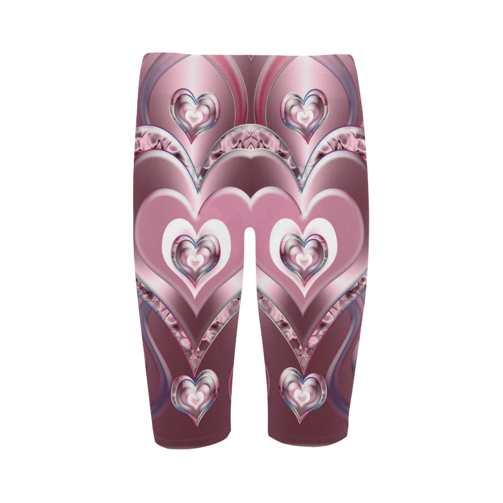 River Flowing Hearts Hestia Cropped Leggings (Model L03)