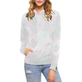 Clear Amour Snuff Mint Women's All Over Print Hoodie (USA Size) (Model H13)