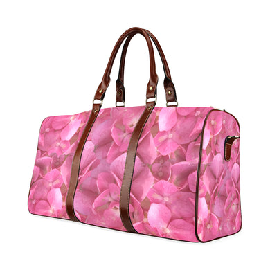 Dark Pink Flowers Waterproof Travel Bag/Small (Model 1639)