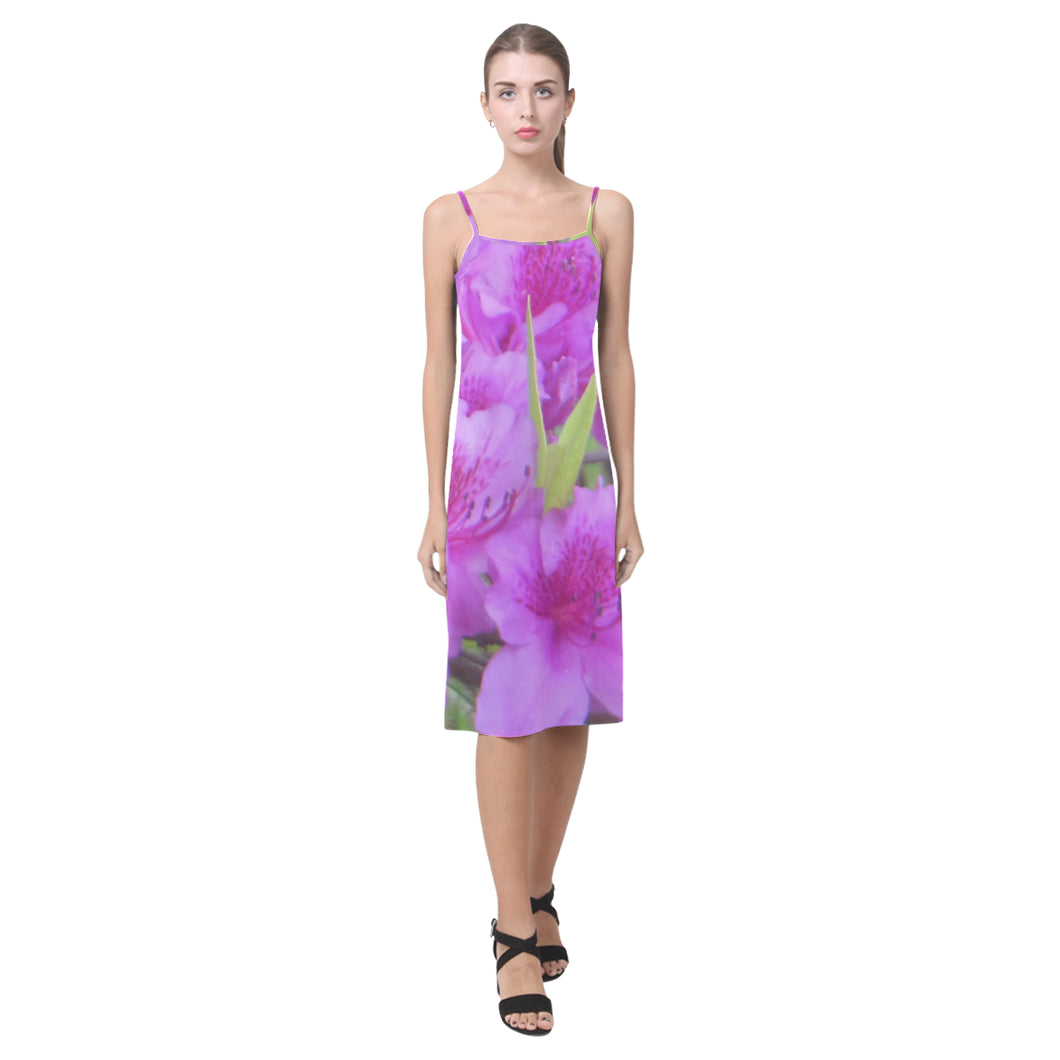 Azalea Flowers Alcestis Slip Dress (Model D05)