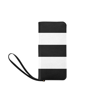 Black White Stripes Women's Clutch Purse (Model 1637)