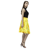 Candlelight Roses Melete Pleated Midi Skirt (Model D15)