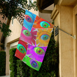 Color Eye Flower Collage Garden Flag 28''x40'' (Without Flagpole)