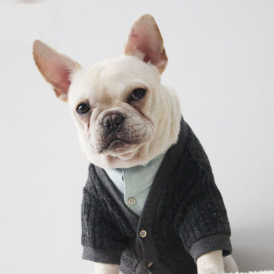 French Bulldog Sweater Dog Clothes Chihuahua Cardigan Outfit Cotton Jacket Apparel