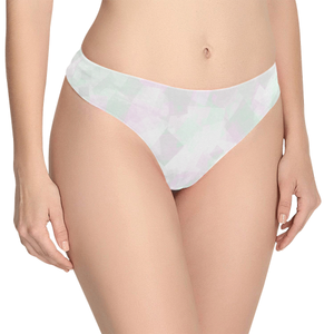 Clear Amour Snuff Mint Women's All Over Print Thongs (Model L5)
