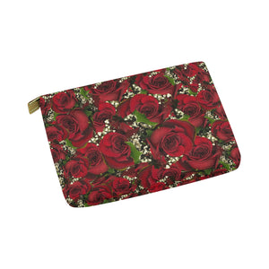 Carmine Roses Carry-All Pouch 8''x 6''