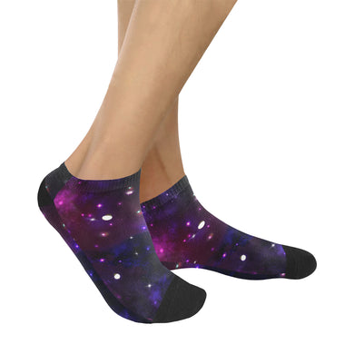 Midnight Blue Purple Galaxy Women's Ankle Socks