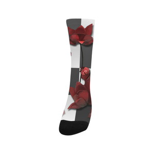 Burnt Crimson Flora Trouser Socks