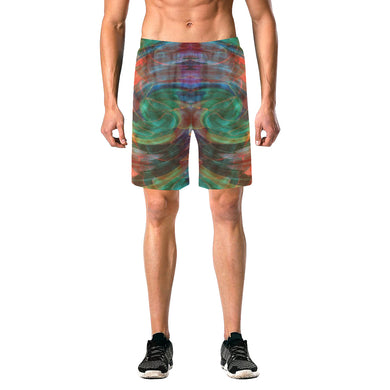 Ray of Twirls Men's All Over Print Elastic Beach Shorts (Model L20)