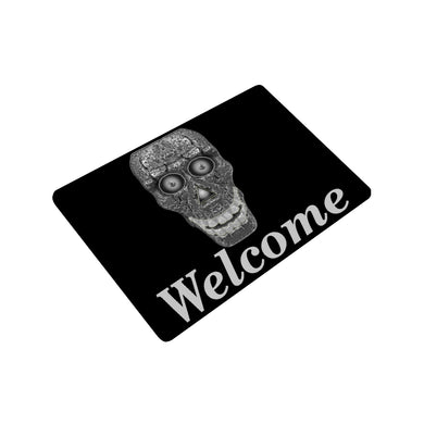 Cod Grey Skull Head Doormat 23.6
