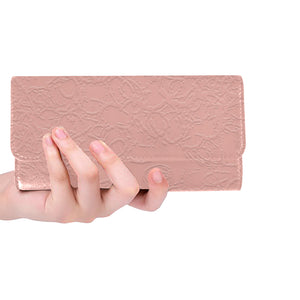 Sea Pink Sundown Women's Trifold Wallet (Model 1675)