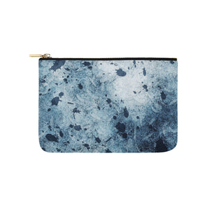 Water Blue Splatter Carry-All Pouch 9.5''x6''