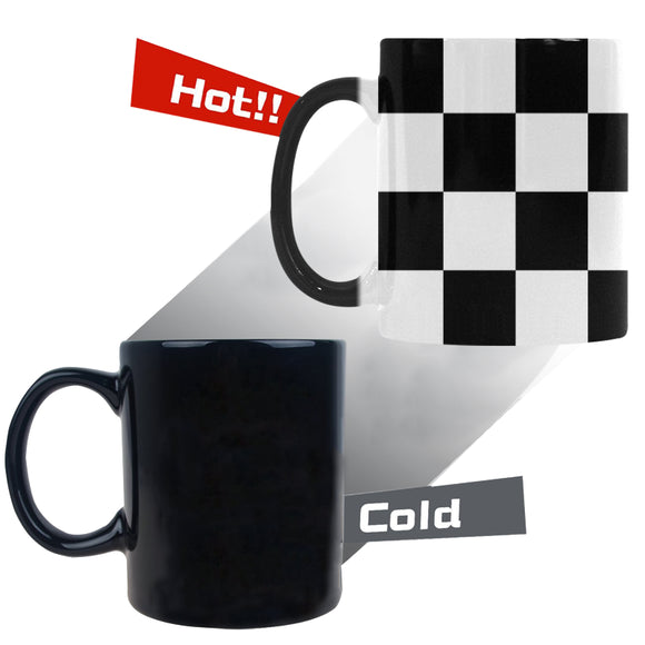 Black White Checkers Custom Morphing Mug (11oz)