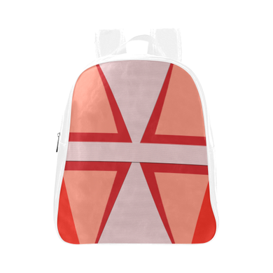 Shades of Red Patchwork School Backpack (Model 1601)(Small)
