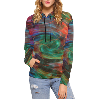 Ray of Twirls Women's All Over Print Hoodie (USA Size) (Model H13)