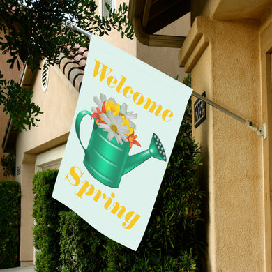 Floral Watering Can Garden Flag 28''x40'' (Without Flagpole)