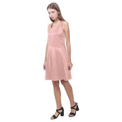Sea Pink Sundown Hebe Casual Sundress (Model D11)