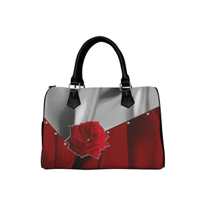 Two Tone Silk Rose Boston Handbag (Model 1621)