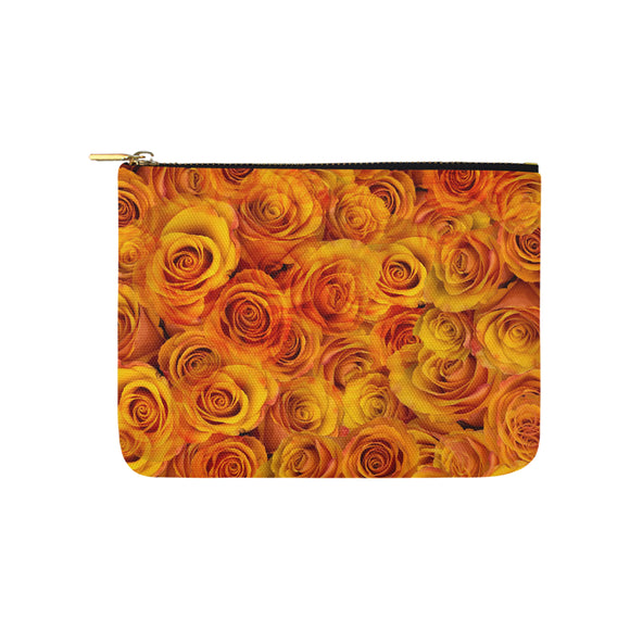 Grenadier Tangerine Roses Carry-All Pouch 8''x 6''