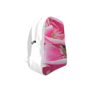 Pretty Pink Flora School Backpack/Large (Model 1601)