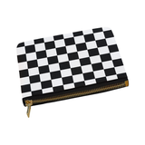 Black White Checkers Carry-All Pouch 8''x 6''