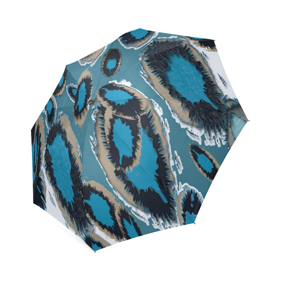Bluish Smudge Spots Foldable Umbrella