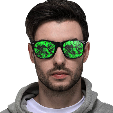 Dark Pastel Greens Custom Goggles (Perforated Lenses)