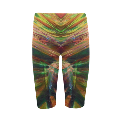 Abstract Colorful Glass Hestia Cropped Leggings (Model L03)