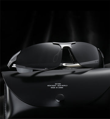 Aluminum Magnesium Alloy Frame HD Polarized Lens Men Travel Driving Eyewear Sunglasses