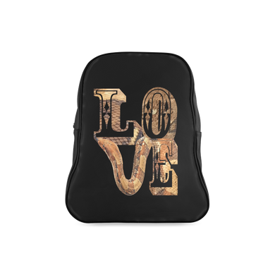 Snake Skin Love School Backpack/Large (Model 1601)