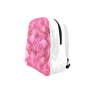 Dark Pink Flowers School Backpack (Model 1601)(Small)