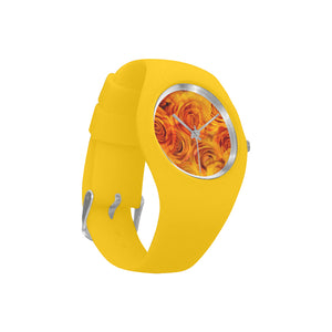 Grenadier Tangerine Roses Simple Style Candy Silicone Watch (Model 315)