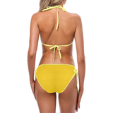 Golden Poppy Corn Custom Bikini Swimsuit (Model S01)