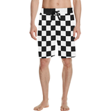 Black White Checkers Men's All Over Print Casual Shorts (Model L23)