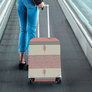 Cheery Coral Pink Luggage Cover/Small 24'' x 20''