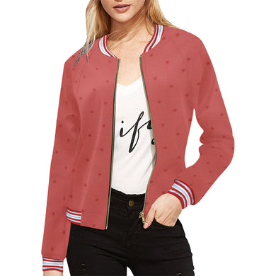 Sunset Dots All Over Print Bomber Jacket for Women (Model H21)