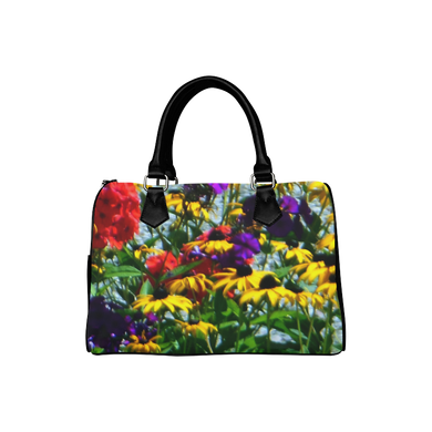 Picturesque Flowers Boston Handbag (Model 1621)