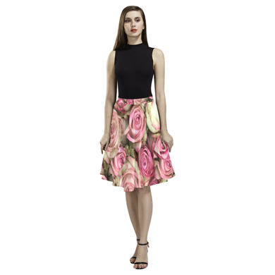 Your Pink Roses Melete Pleated Midi Skirt (Model D15)
