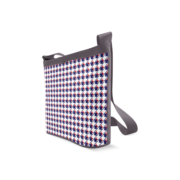 Red White Blue Houndstooth Crossbody Bags (Model 1613)
