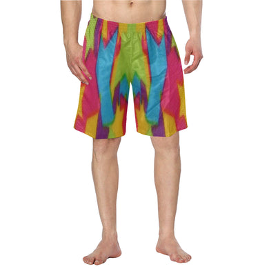 Rainbow Star Abstract Men's Swim Trunk (Model L21)