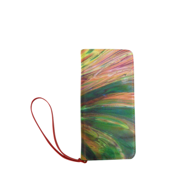 Abstract Colorful Glass Women's Clutch Wallet (Model 1637)