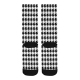 Black White Houndstooth Trouser Socks