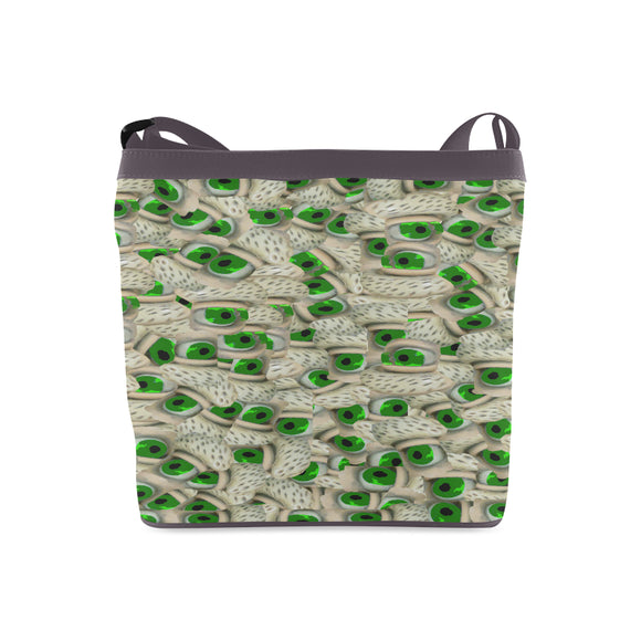 Bushy Green Eyebrows Crossbody Bags (Model 1613)