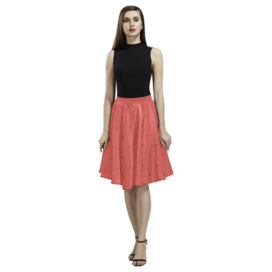 Sunset Dots Melete Pleated Midi Skirt (Model D15)