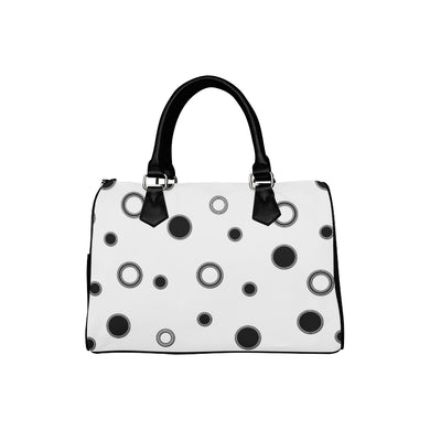 Black Polka Dots Boston Handbag (Model 1621)