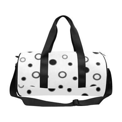 Black Polka Dots Duffle Bag (Model 1679)