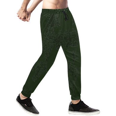 Deep Fir Shades Men's All Over Print Sweatpants/Large Size (Model L11)