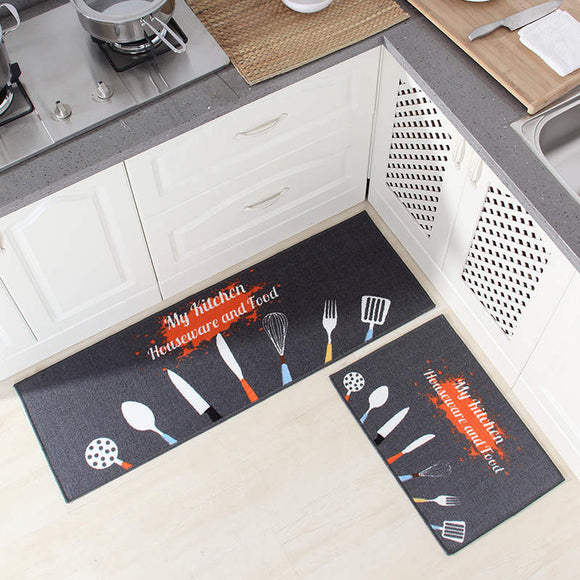 Kitchen Set Wear-Resistant Non-Slip Floor Door Mat Oil-Absorbing Anti-Fouling