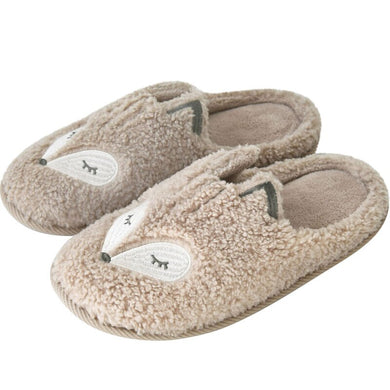 MECEBOM Women Cute Animal Fur Nonslip Memory Foam Cotton House Slippers
